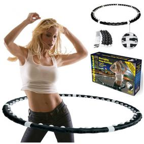 Утяжеленный массажный обруч с магнитами «Massaging Hoop Exerciser» цена от 1 269 руб